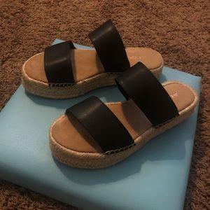 Aldo Shoes - Aldo black espadrille slip on sandals